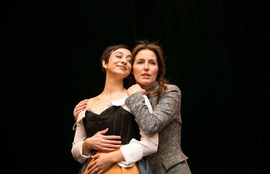 Kimy McLaren (Léonore) et Pascale Beaudin (Marcelline) lors des répétitions de «Léonore», de Pierre Gaveaux, à Montréal en janvier2017