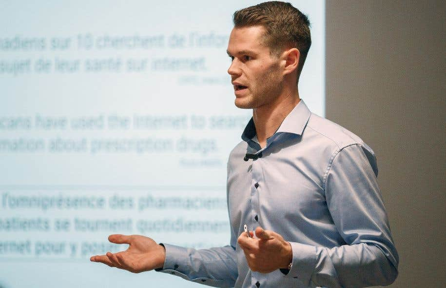 Le pharmacien Alexandre Chagnon a créé un site Internet permettant de répondre directement aux questions des patients.