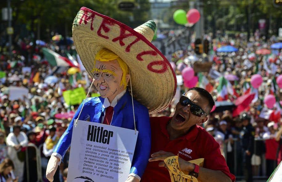 Manifestation contre Trump et son projet de mur — Mexique