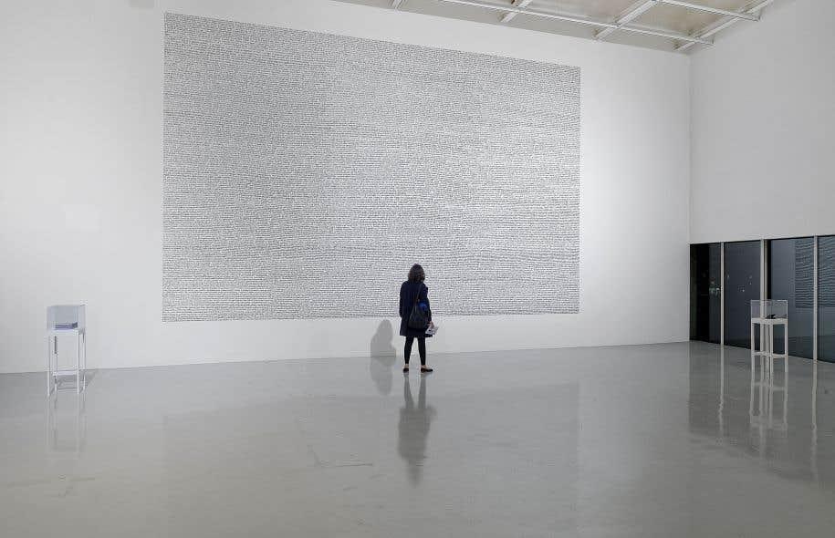 Jean-Christophe Norman, «Le fleuve sans rives», 2014, exposé par le Frac Franche-Comté, en France