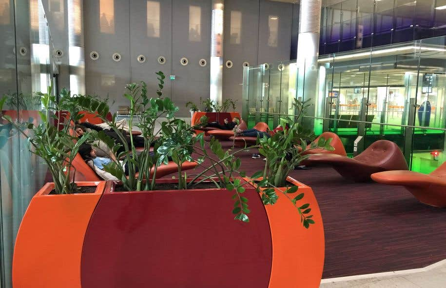 L'aire de repos à l'aéroport Roissy–Charles-de-Gaulle