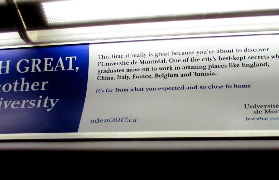 «Oh great, another university ad», indique la publicité, sur un ton moqueur.
