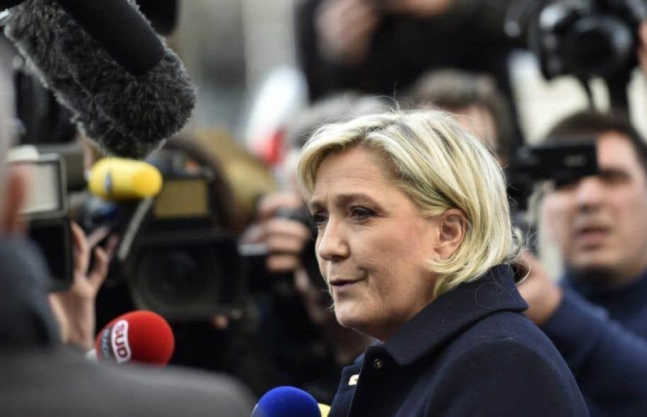 La candidate de l'extrême droite à la présidentielle française, Marine Le Pen