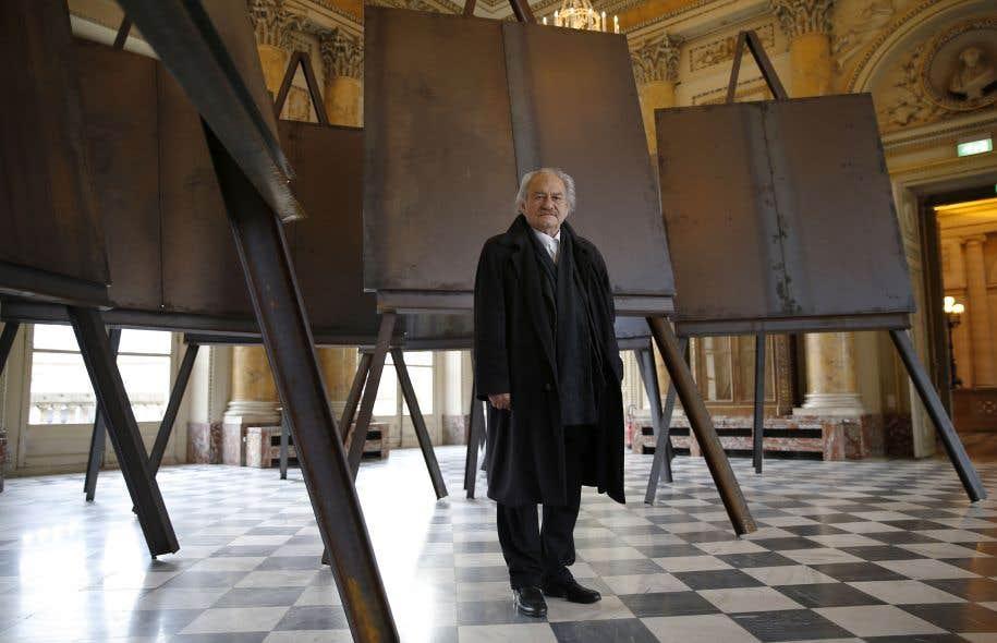 Jannis Kounellis avait investi les salons de la Monnaie de Paris en mars dernier en mêlant pièces nouvelles et œuvres anciennes.