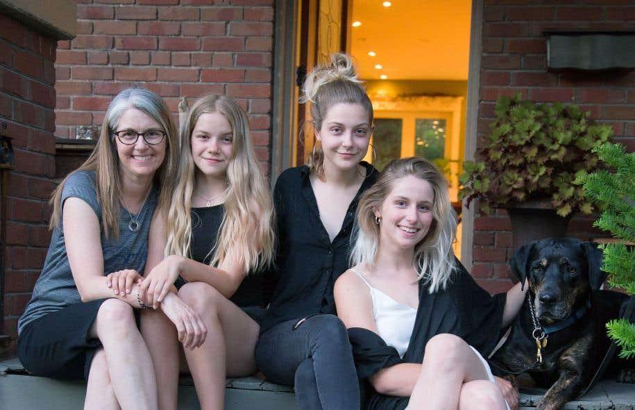 Lianne Doucet et ses trois filles