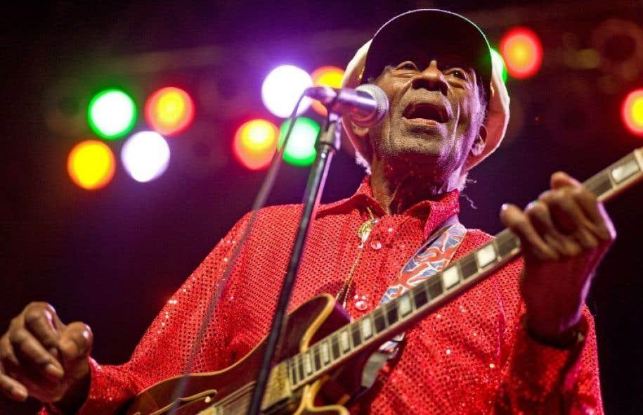 Chuck Berry lors d'un concert à Chicago en 2011