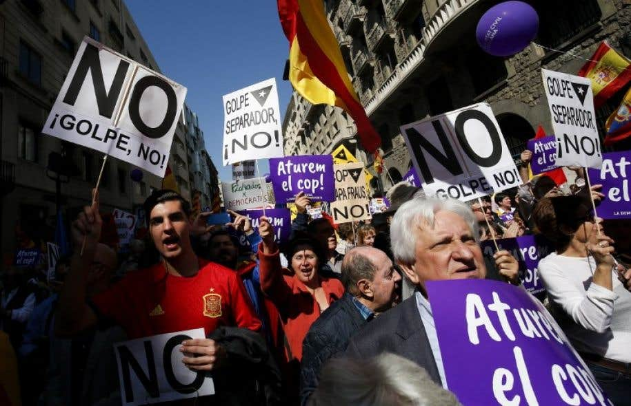 Quelque 6500 personnes ont participé à la manifestation dans les rues de Barcelone.