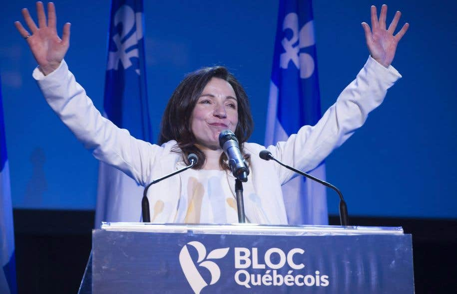 Martine Ouellet a été couronnée sans opposition comme chef du Bloc lors d'un rassemblement samedi à Montréal.
