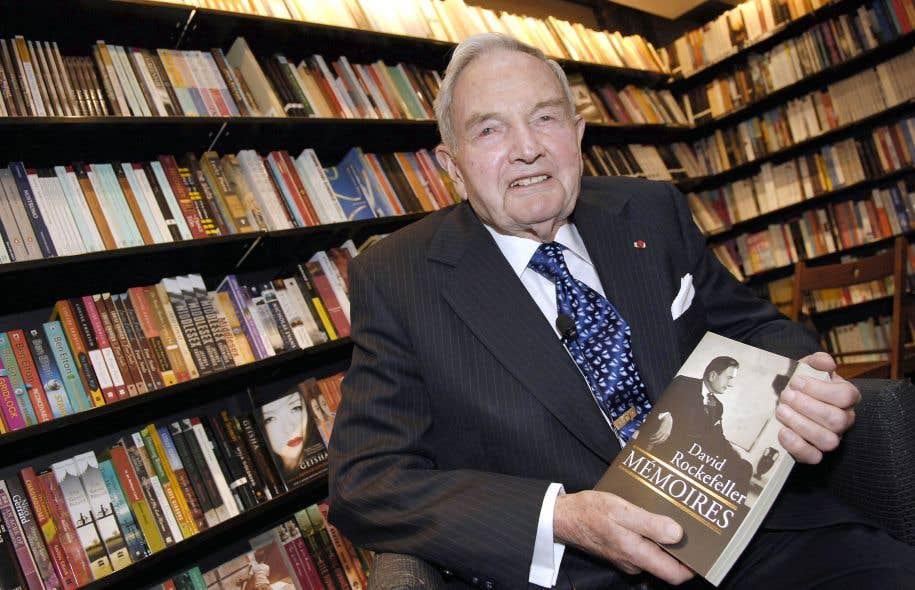 David Rockefeller à Paris en 2006 lors du lancement de ses «Mémoires»