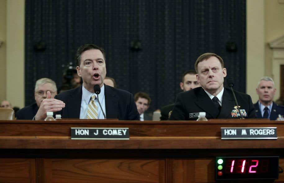 Le directeur du FBI James Comey devant le Congrès