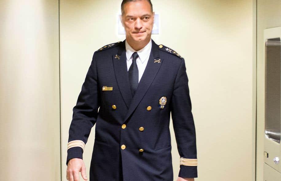 Le directeur du SPVM, Philippe Pichet, à son arrivée à la commission Chamberland, mardi