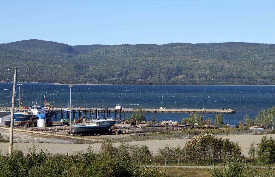 Le port de Sandy Beach, à Gaspé