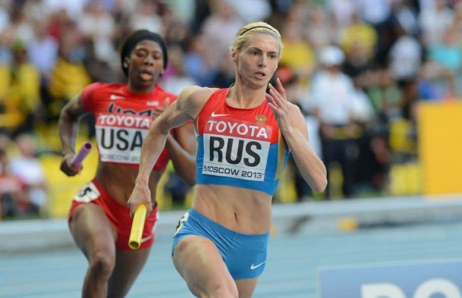 Antonina Krivoshapka fait partie des cinq athlètes russes qui ont reconnu s'être dopés.