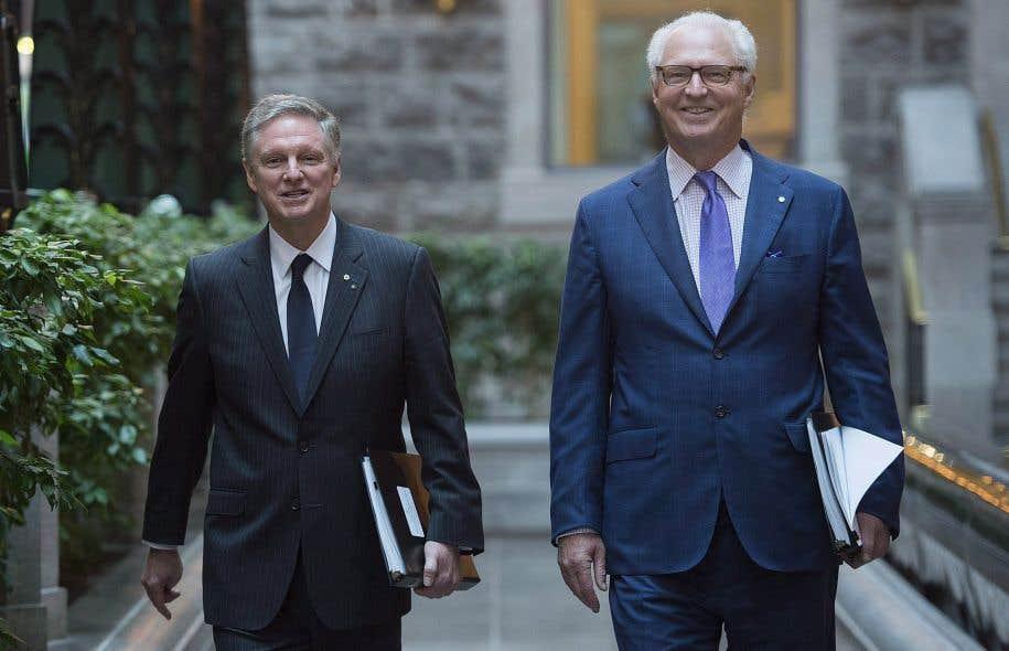 Les cochefs de la direction de Power Corporation, Paul Desmarais fils (gauche) et André Desmarais