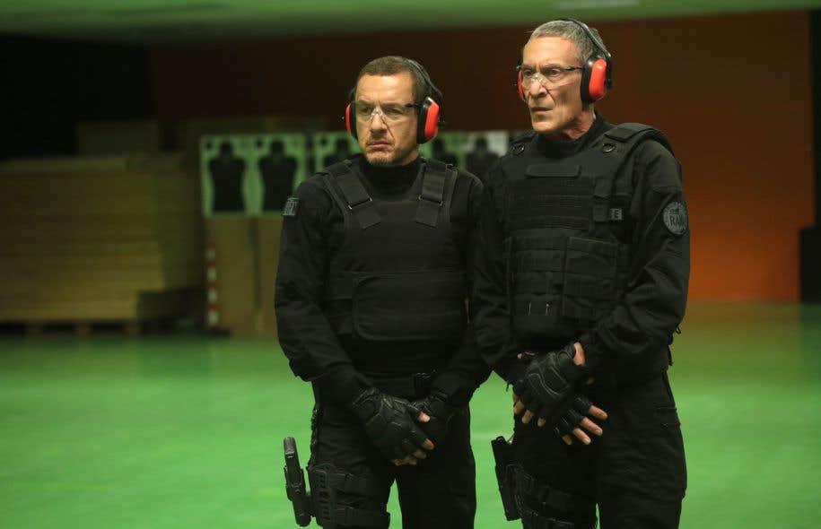Dany Boon et François Levantal incarnent deux policiers du RAID dans le dernier film de Dany Boon, «Raid Dingue».