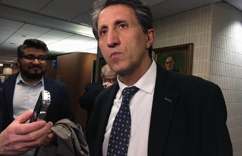 Le députe de Québec solidaire Amir Khadir
