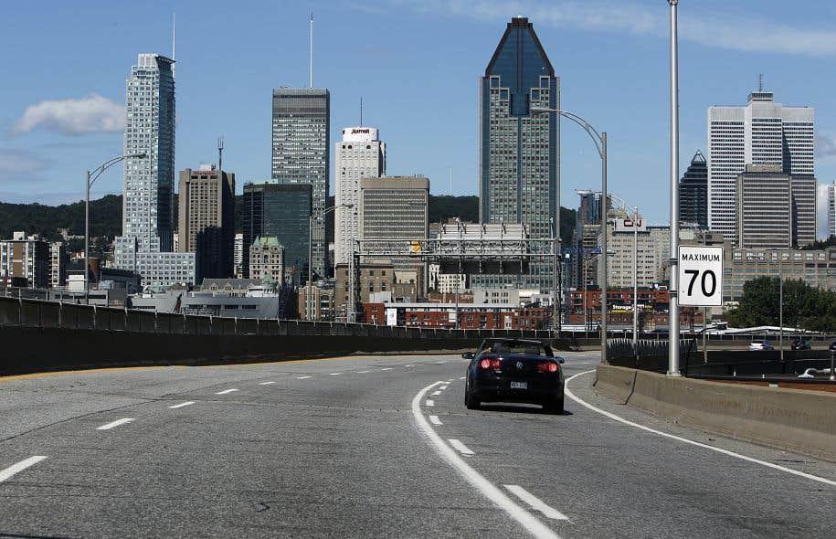 Le chantier de l'autoroute Bonaventure qui accaparera un investissement de 141,7millions.