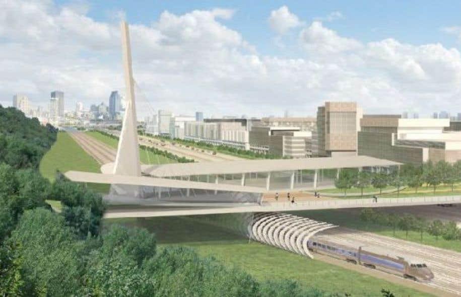 Ce parc urbain de 40 millions de dollars devait permettre aux piétons et aux cyclistes de franchir le nouvel échangeur Turcot.