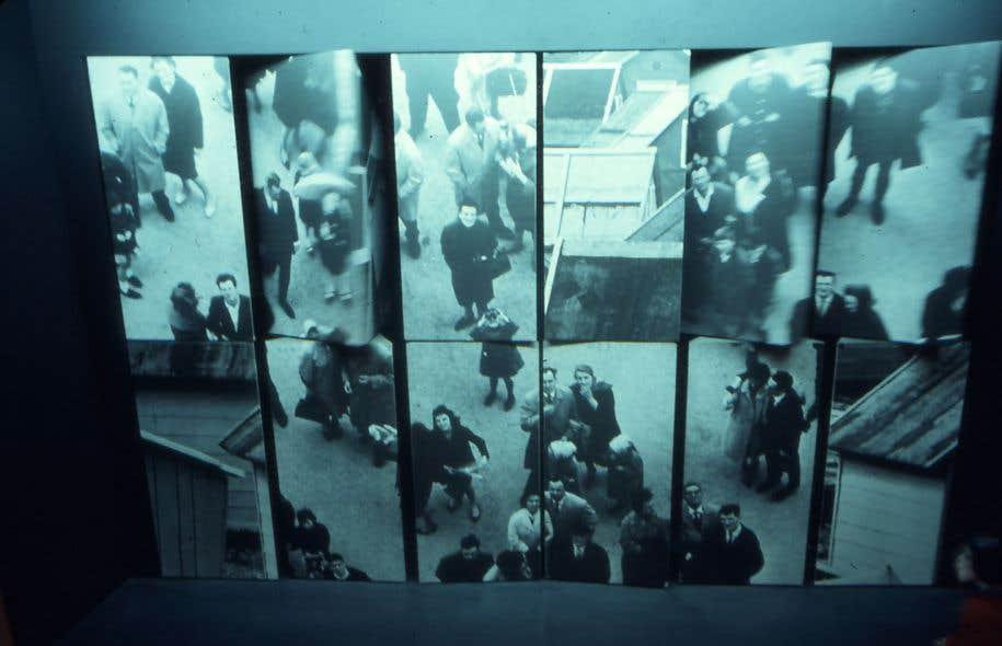 Une installation de Charles Gagnon dans le pavillon Chrétien