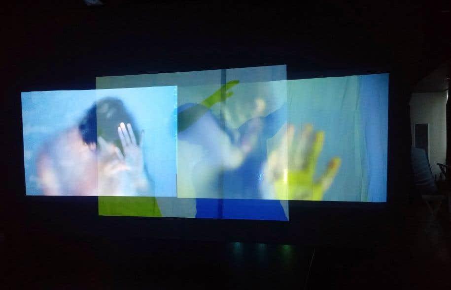 «Confining Thirst», du photographe Kevin Jung-Hoo Park, s'inspire d'un projet de recherche du laboratoire du Dr Charles Bourque et de son étudiante au doctorat Claire Gizowski, du CUSM, sur les zones du cerveau impliquées dans les rythmes circadiens de la soif.