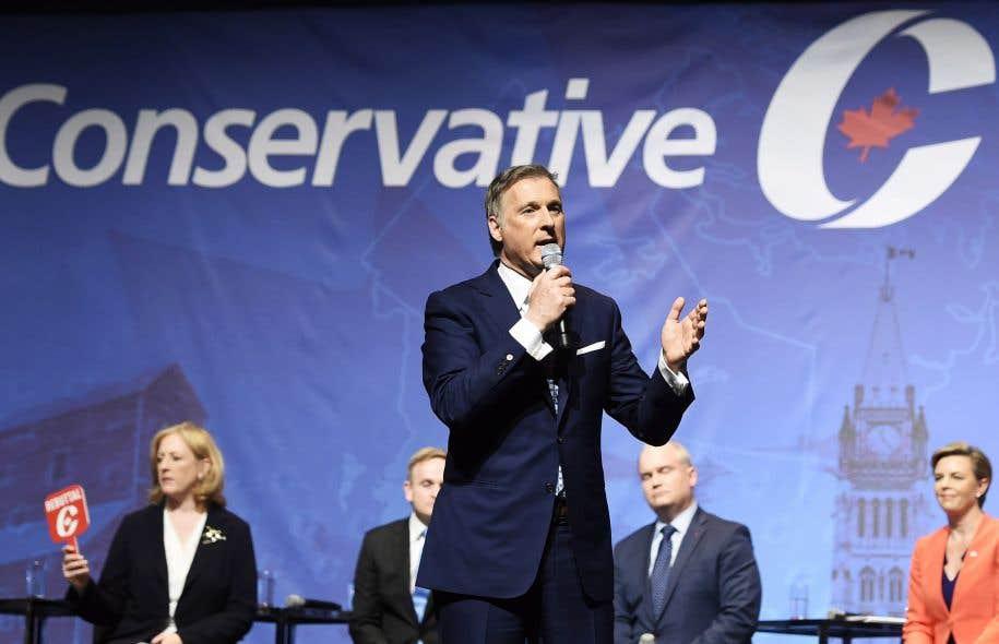 Maxime Bernier au dernier débat de la course à la direction du Parti conservateur, mercredi, à Toronto