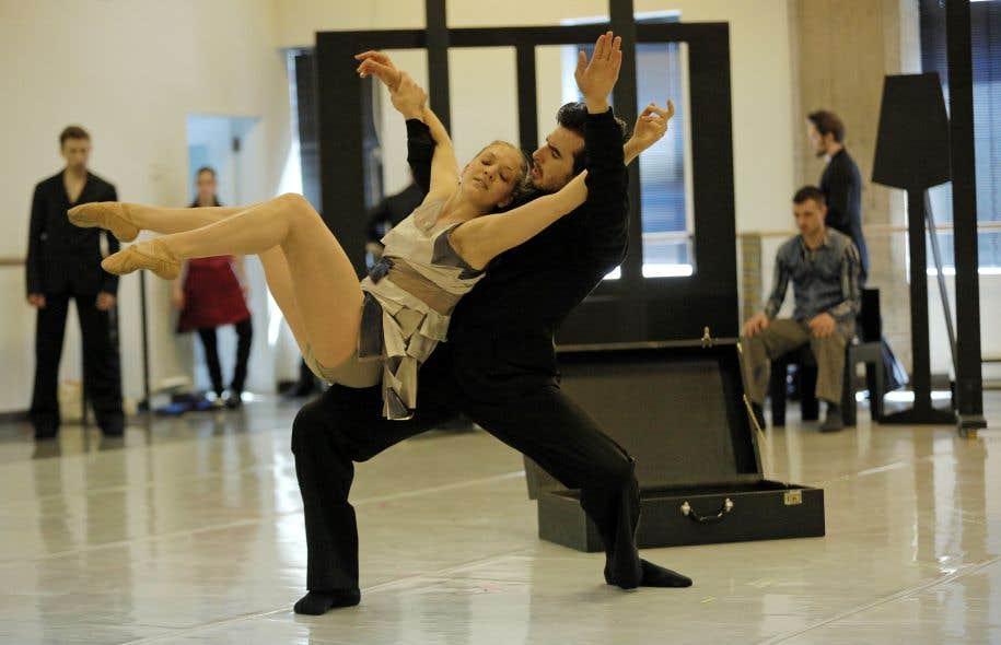 Répétition pour «La jeune fille et la Mort» aux Grands Ballets canadiens, où le nombre de danseurs en arrêt de travail pour cause de blessures a diminué de moitié en trois ans.