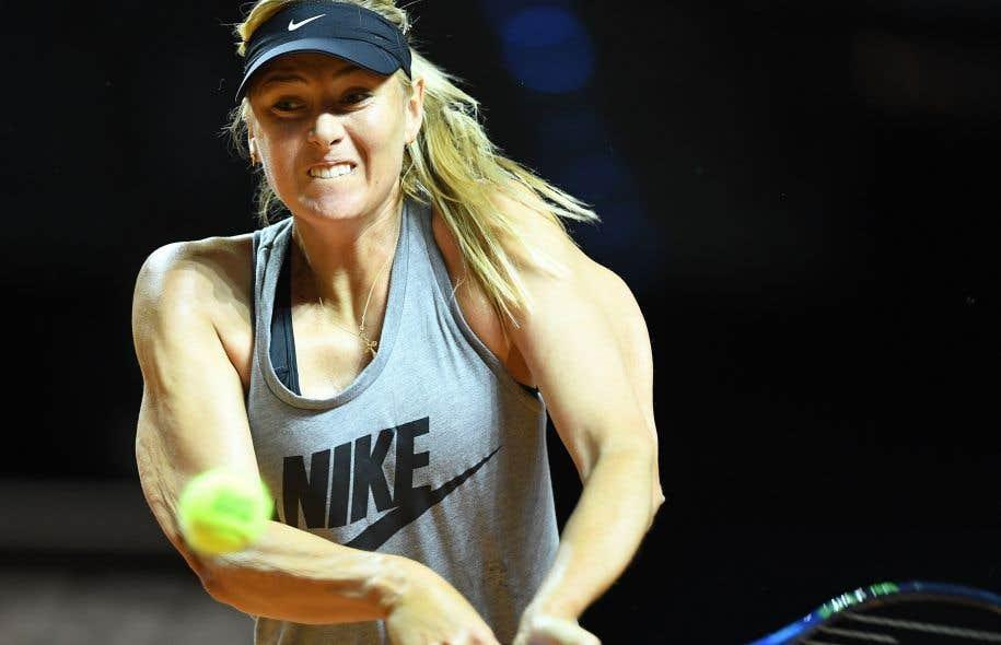 Maria Sharapova en quarts de finale du tournoi WTA de Stuttgart