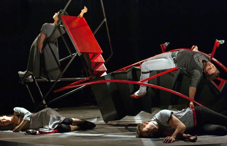Une scène de «Et si Roméo et Juliette» du DynamO Théâtre