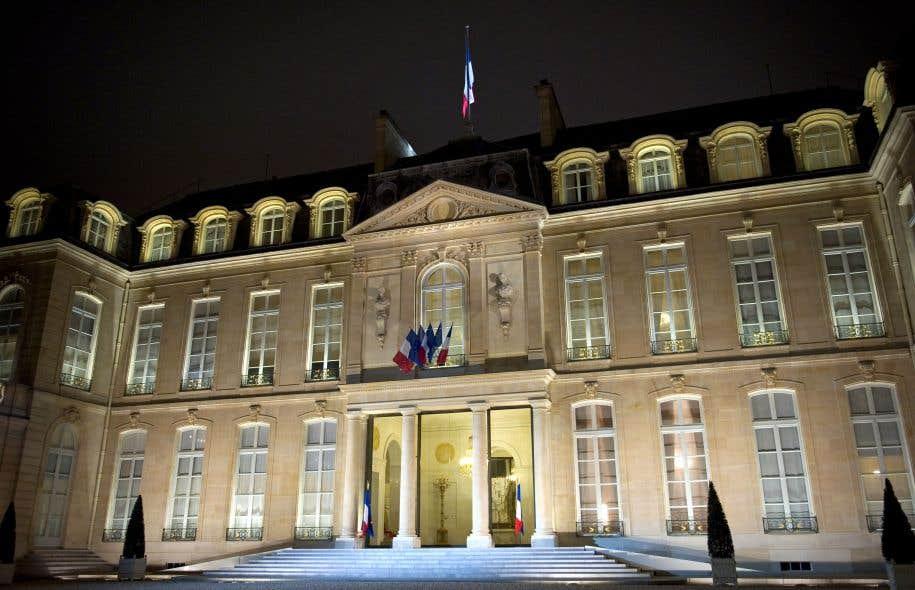 La façade de l'Élysée, palais présidentiel