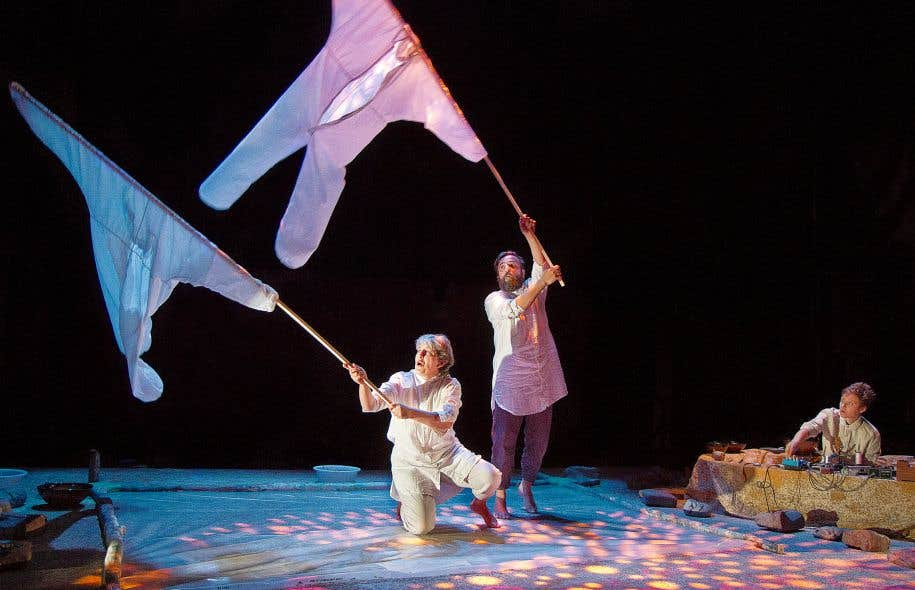 Les acteurs de la pièce «Magie lente» misent sur l'évocation et accordent une importance aux mouvements et aux sons.