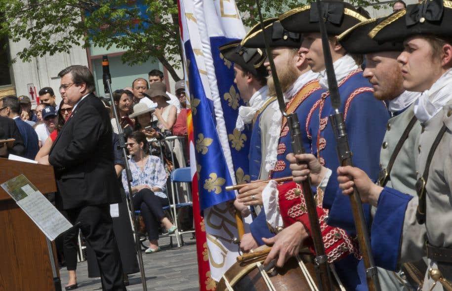 Le maire Denis Coderre a donné le coup d'envoi aux célébrations du 375e de Montréal.
