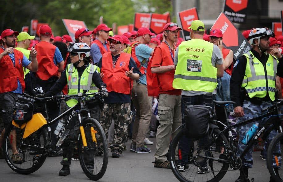 L'importante manifestation est partiede la rue Gilford, sur le Plateau Mont-Royal.