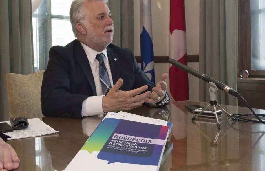 Philippe Couillard a dévoilé jeudi après-midi la Politique d'affirmation du Québec et de relations canadiennes.