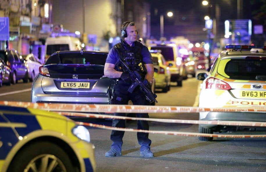 La police londonienne a rapidement été dépêchée sur les lieux de l'incident.