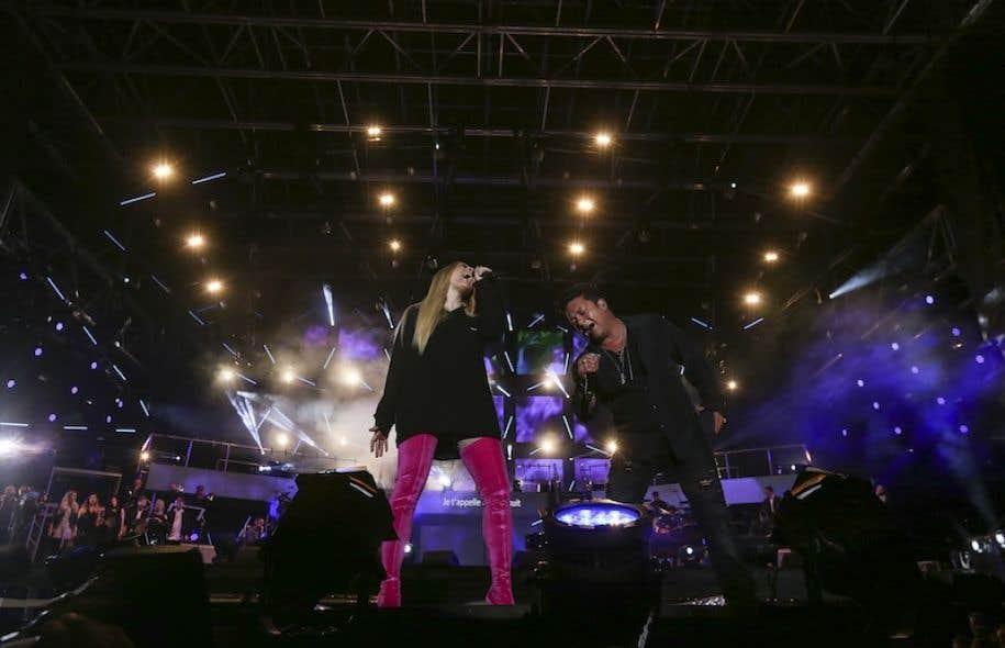 Marie-Mai et Éric Lapointe au spectacle de la Fête nationale sur les plaines d'Abraham, vendredi, à Québec