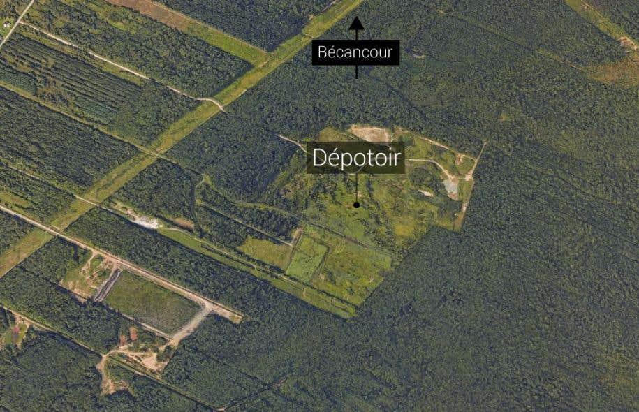 Le site en question a servi à l'enfouissement de matières dangereuses de1986 à2003.