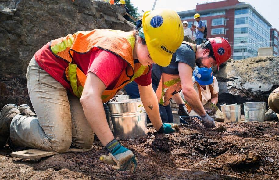 Les fouilles archéologiques, entreprises en 2010, ont permis de dégager environ le quart du site situé dans un stationnement du Vieux-Montréal.
