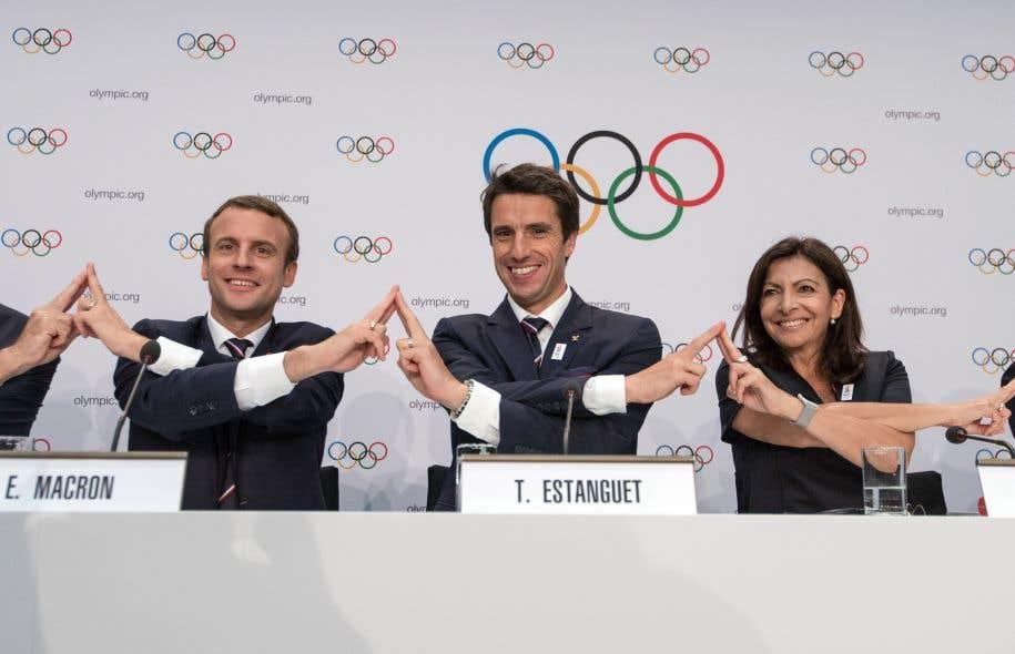 Même s'ils sont optimistes, les responsables de la candidature de Paris demeurent prudents dans leurs réactions officielles.