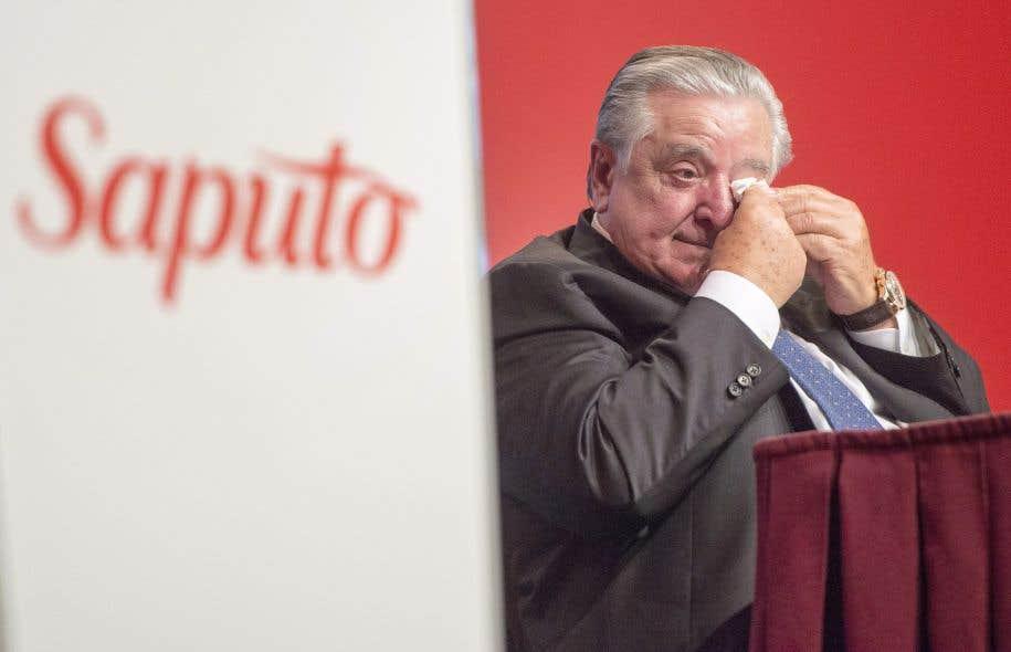 L'entrepreneur italien n'a pas pu contenir ses larmes lorsqu'il a dressé le bilan de l'entreprise qu'il a bâtie dans le but de permettre à son père de quitter les trois emplois qu'il cumulait pour subvenir aux besoins de sa famille lorsqu'il est arrivé à Montréal.