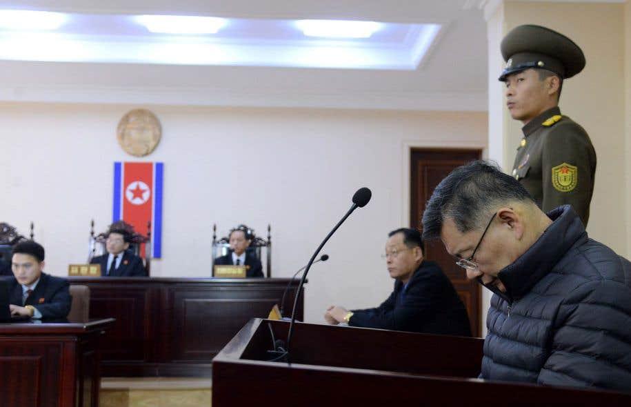 Hyeon Soo Lim a étécondamné aux travaux forcés à vie.