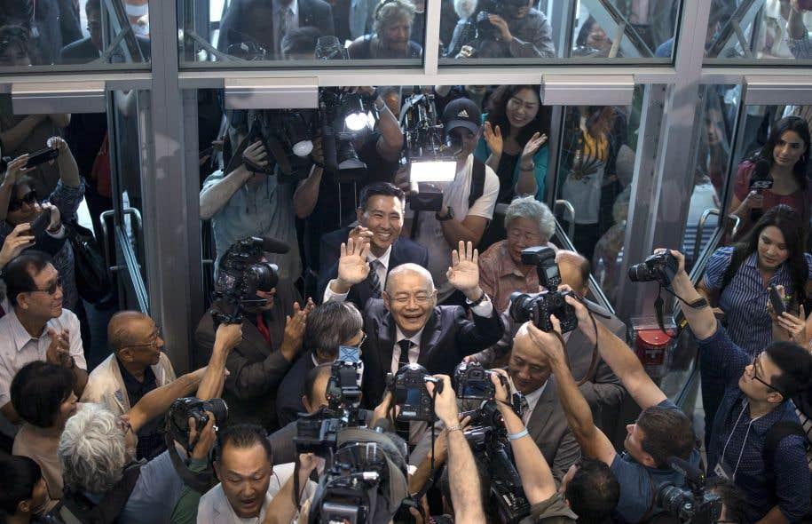 Hyeon Soo Lim est arrivéau Canada samedi matin à bord d'un avion gouvernemental.