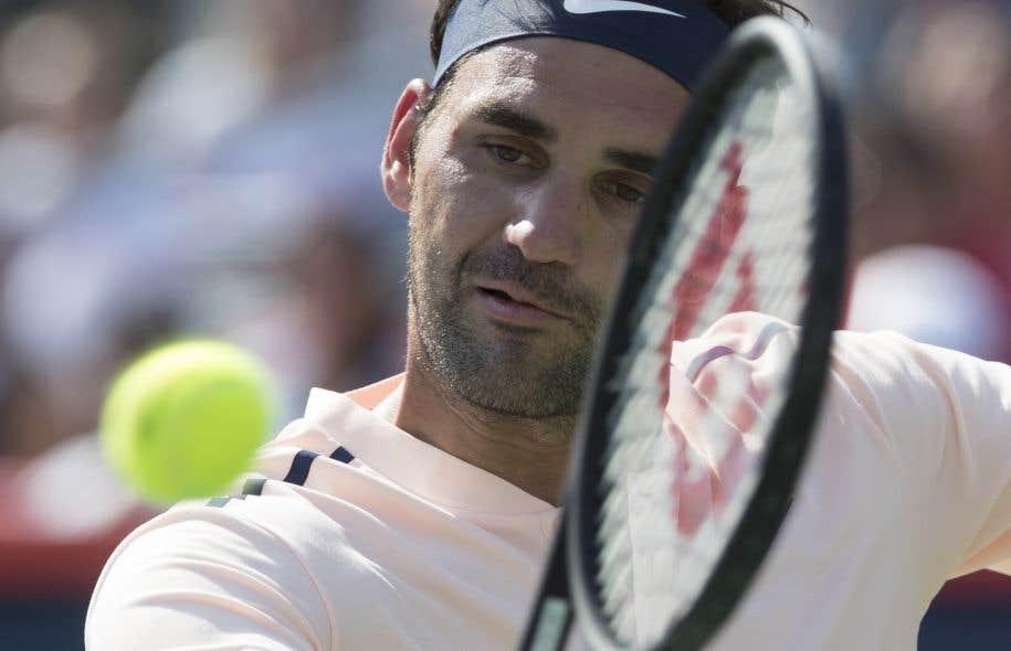 Le joueur suisse Roger Federer, samedi après-midi
