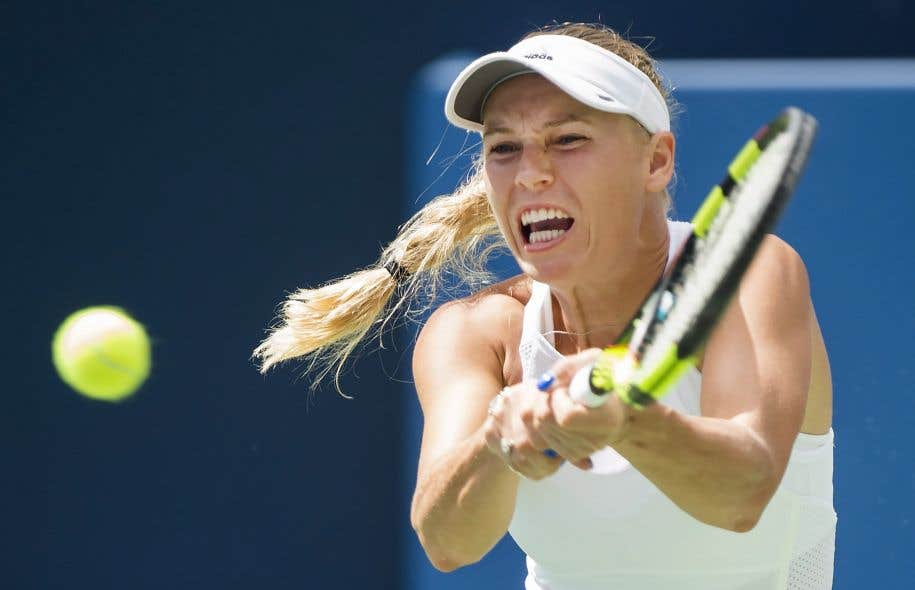 Caroline Wozniacki lors de son match de samedi