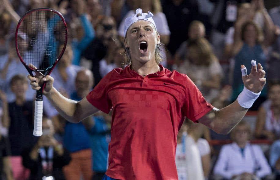 Denis Shapovalov a progressé du 143eau 67erang au classement ATP publié lundi.