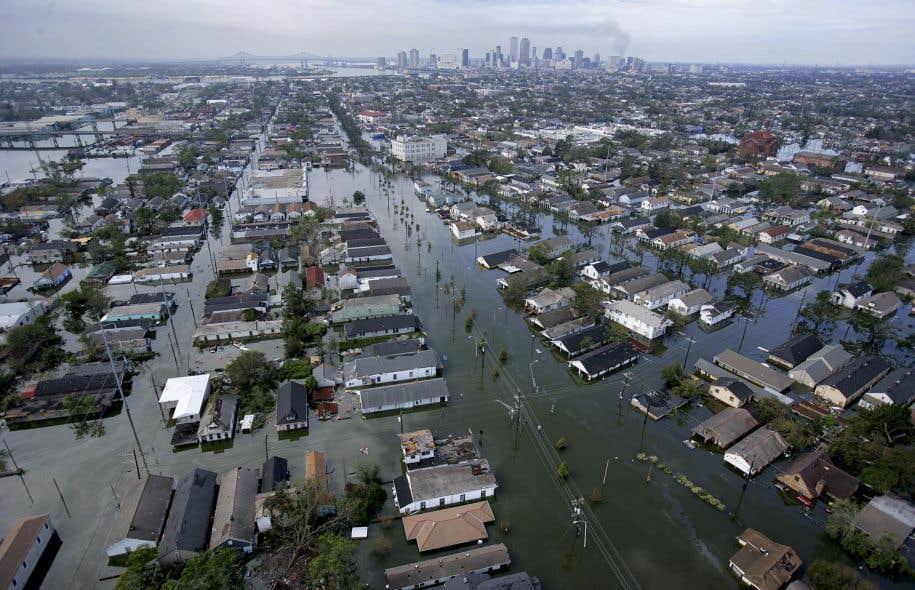 On estime que 80% du territoire de la Nouvelle-Orléans a été inondé des suites de l'ouragan Katrina, en 2005.