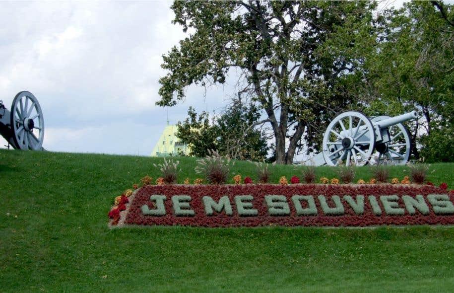 «Je me souviens», devise du Royal 22e Régiment à la Citadelle de Québec
