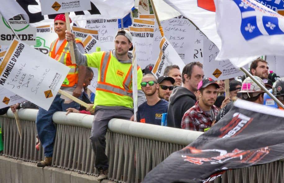 La grève dans la construction a fait reculer le PIB du Québec