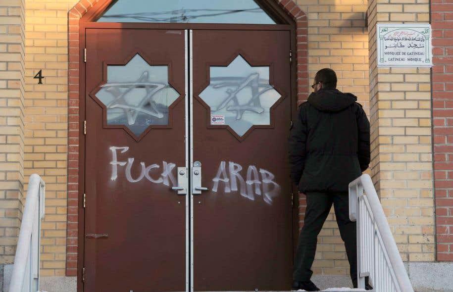 Le Centre islamique de l'Outaouais à Gatineau a été vandalisé en janvier 2012