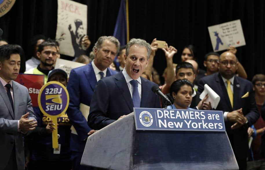 La Californie, qui compte le plus grand nombre de ces jeunes surnommés «Dreamers», ne fait en revanche pas partie des États associés à cette plainte.