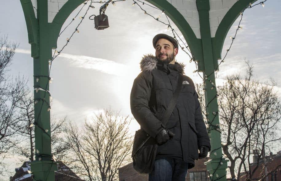 L'écrivain Mathieu Blais